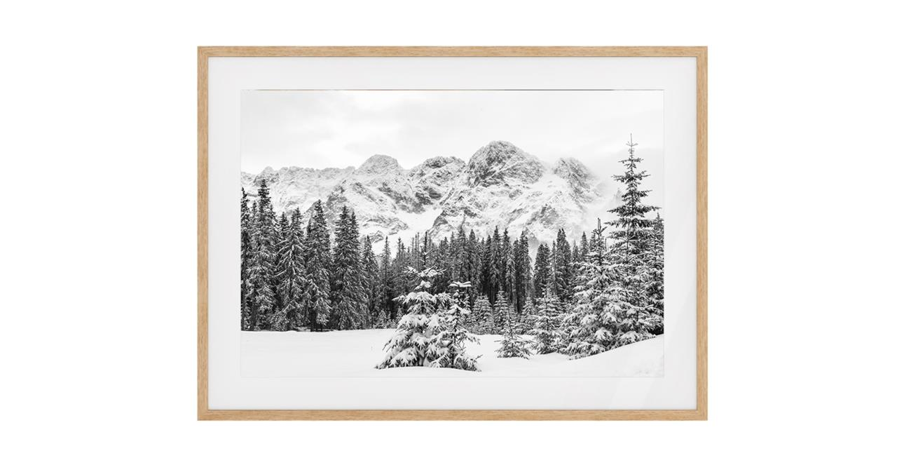 The Winter Print Natural Wood Frame Small