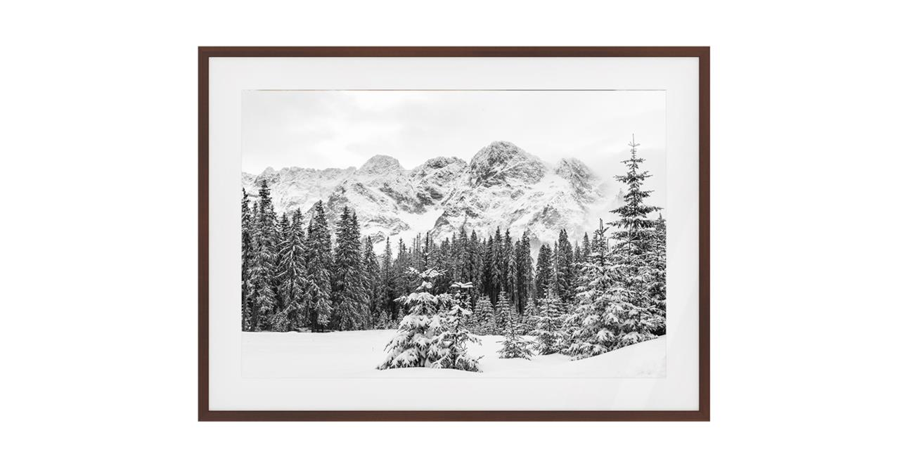 The Winter Print Dark Brown Wood Frame Small