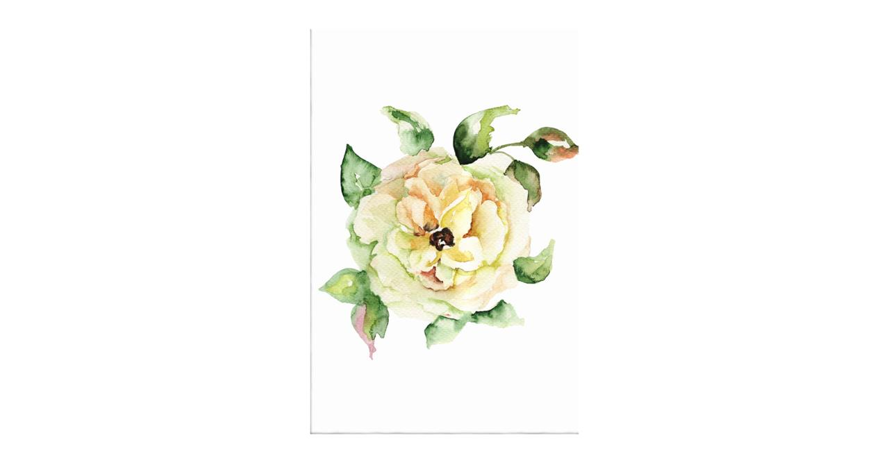 The Yellow Rose Print Canvas Small
