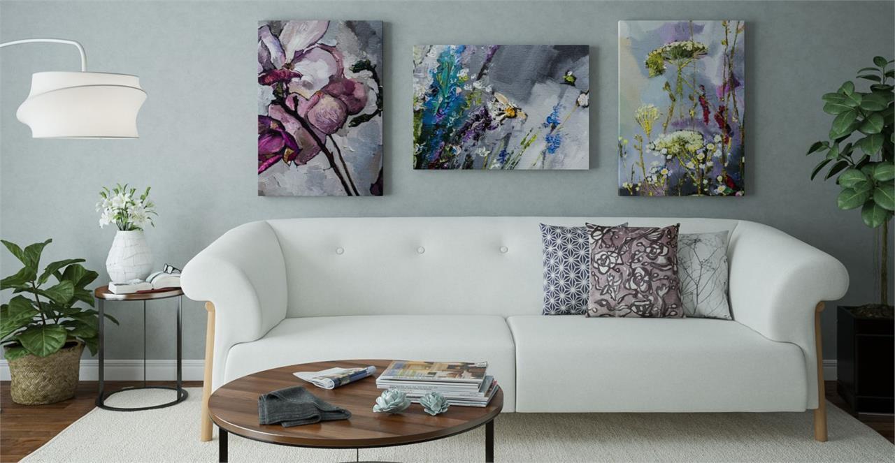 The Dark Garden Triptych Set of 3 Medium