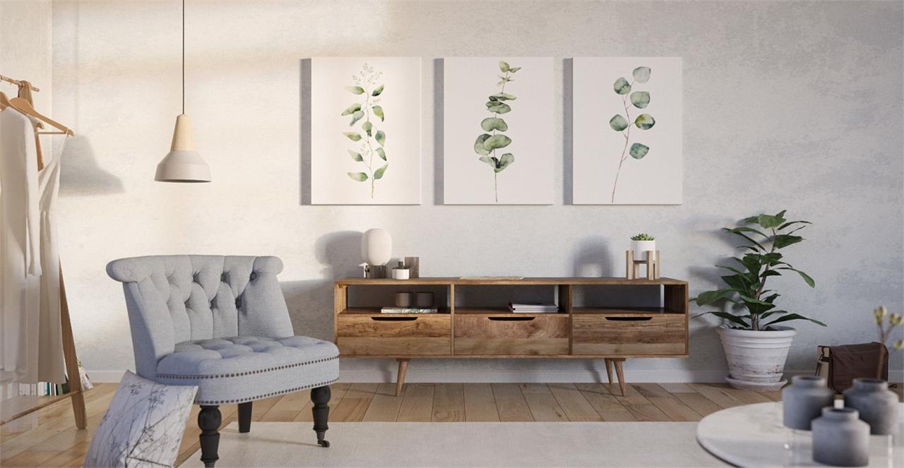 The Eucalyptus Triptych Set of 3 Medium
