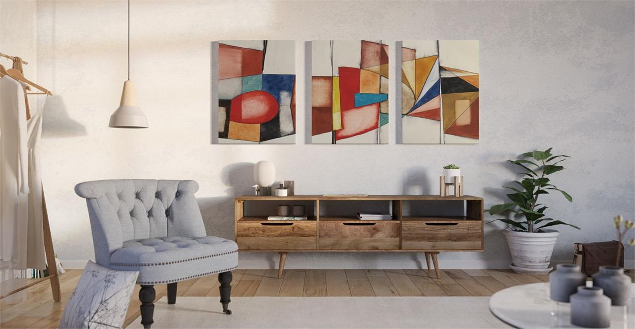 The Fractures Triptych Set of 3 Medium