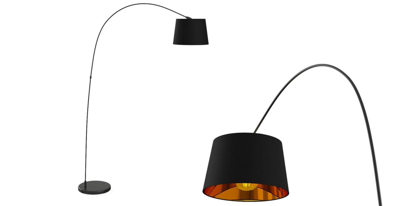 Leo Arc Floor Lamp Matte Black