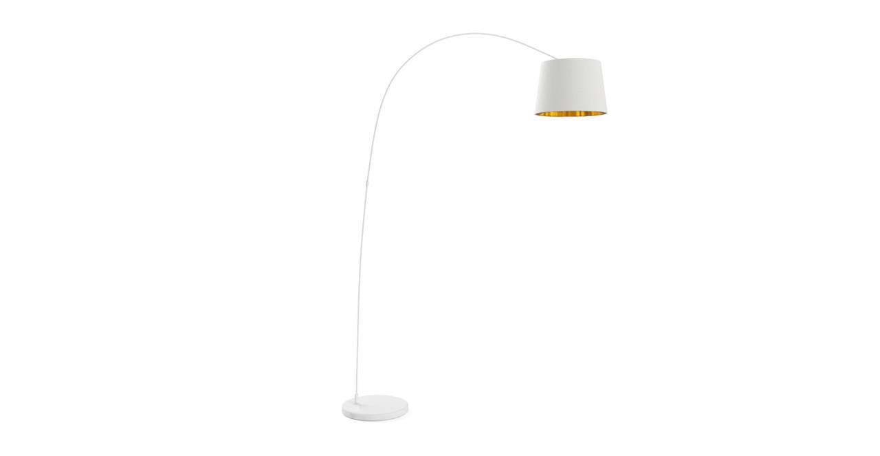 Leo Arc Floor Lamp Matte White