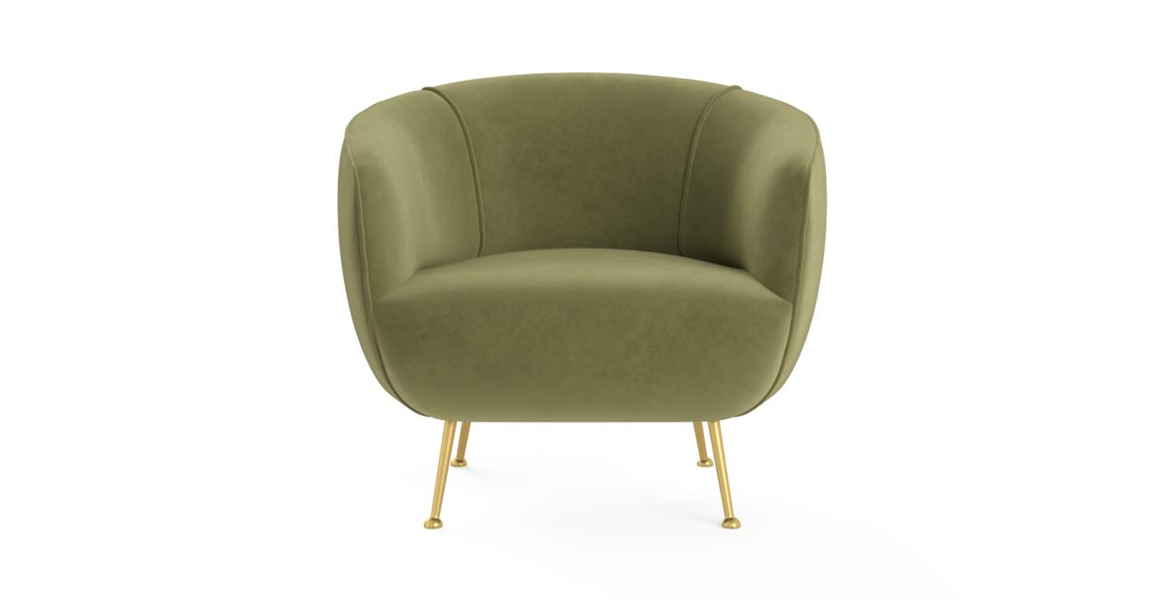 Elodie Accent Chair Olive Green
