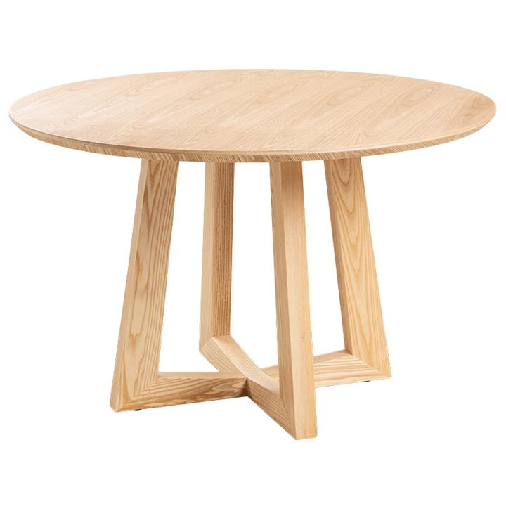 Sloan Commercial Grade Timber Round Dining Table, 120cm, Natural