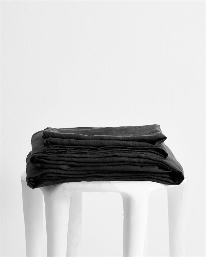 Charcoal 100% Flax Linen Sheet Set - Bed Threads