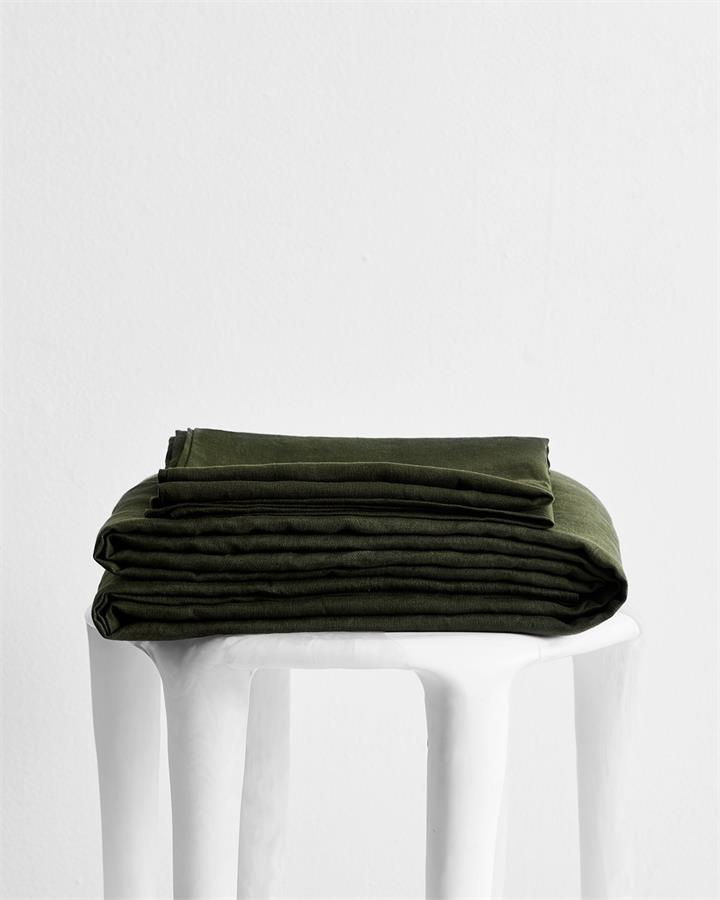 Olive 100% Flax Linen Sheet Set - Bed Threads