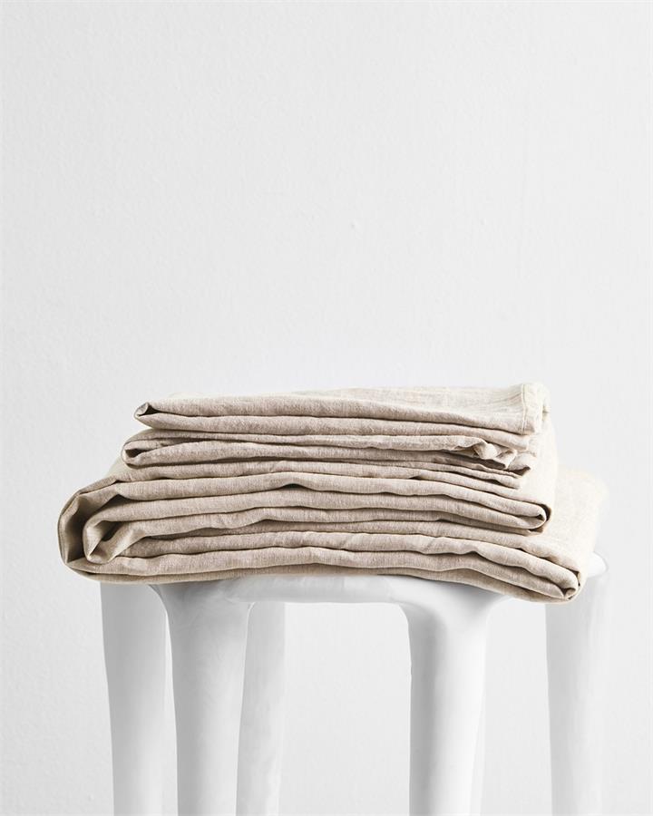 Oatmeal 100% Flax Linen Sheet Set - Bed Threads