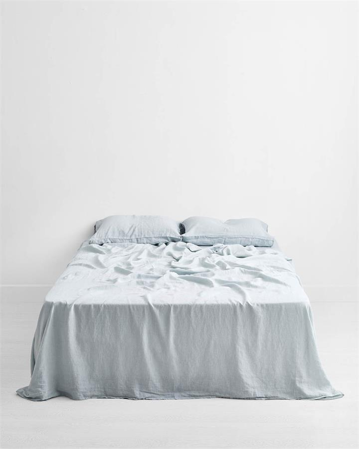 Drift 100% Flax Linen Flat Sheet - Bed Threads