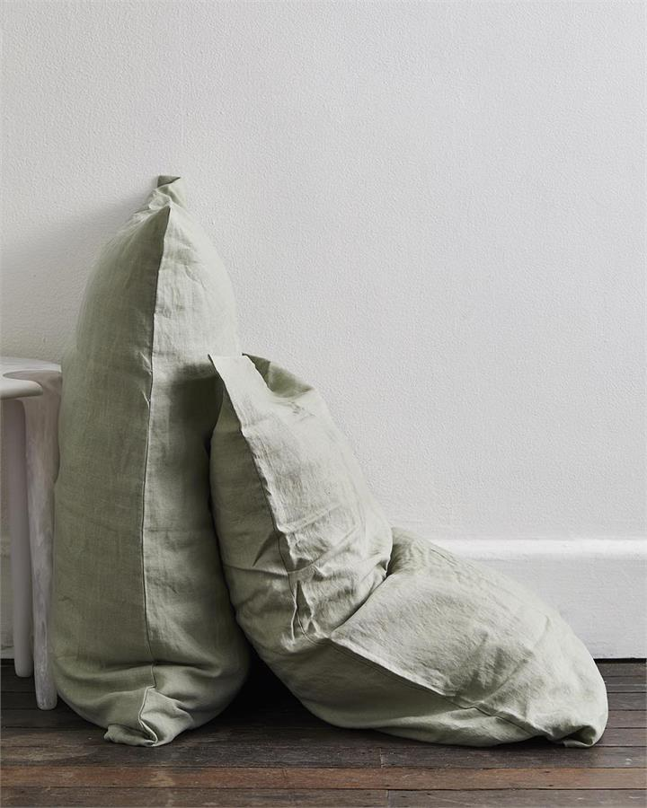 Sage 100% Flax Linen Pillowcases (Set of Two) - Bed Threads