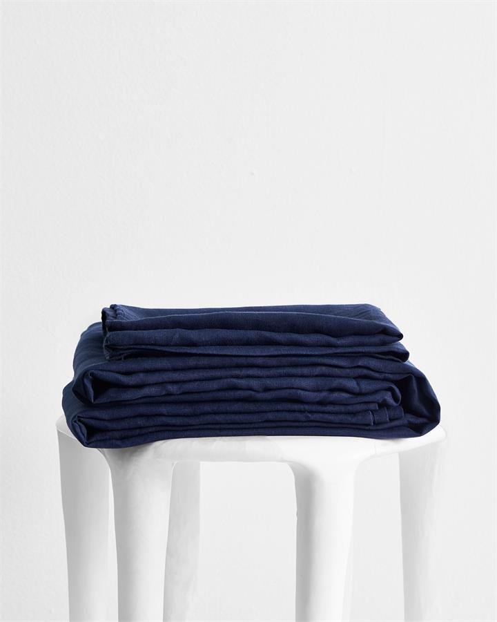 Ink 100% Flax Linen Sheet Set - Bed Threads