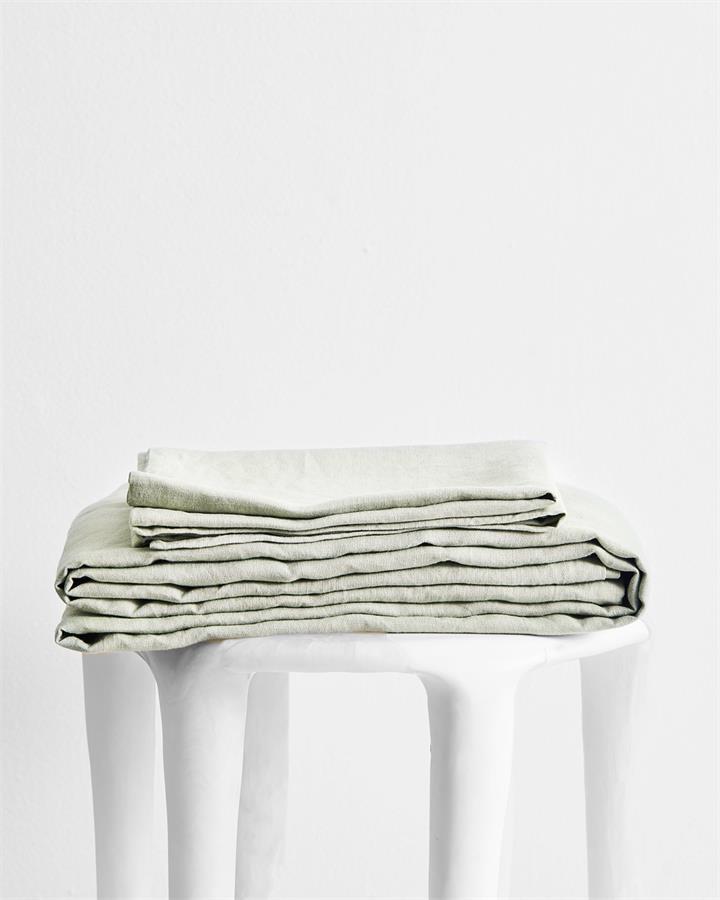 Sage 100% Flax Linen Sheet Set - Bed Threads