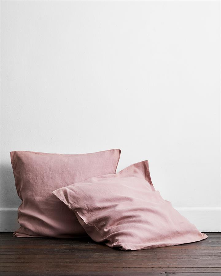 Lavender 100% Flax Linen European Pillowcases (Set of Two) - Bed Threads