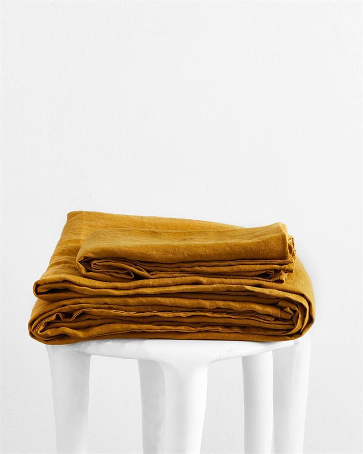 Turmeric 100% Flax Linen Sheet Set - Bed Threads