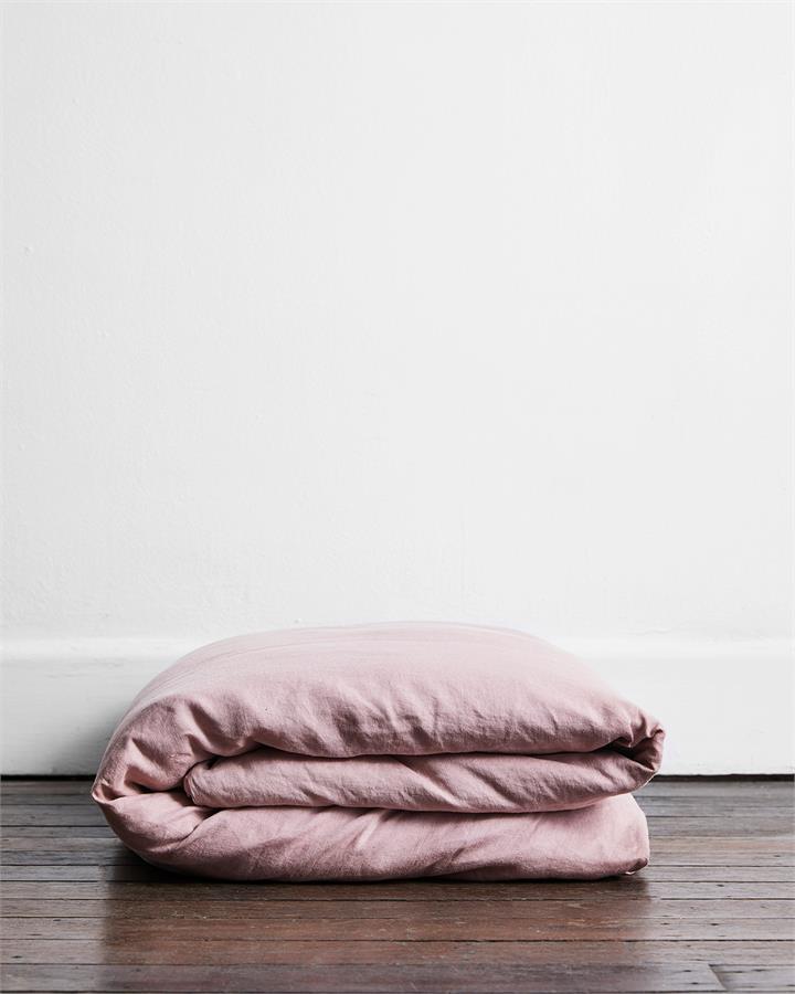 Lavender 100% Flax Linen Duvet Cover - Bed Threads