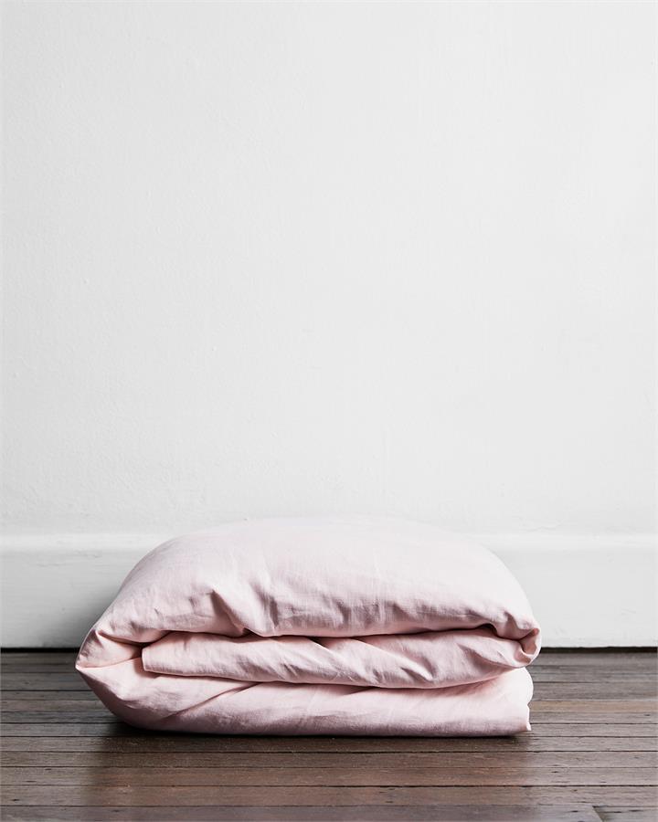 Rosewater 100% Flax Linen Duvet Cover - Bed Threads