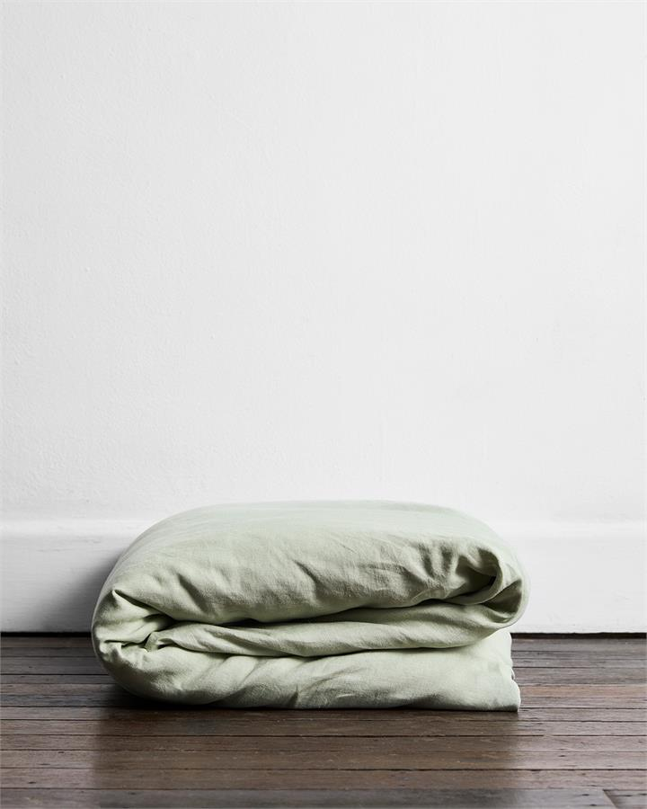 Sage 100% Flax Linen Duvet Cover - Bed Threads