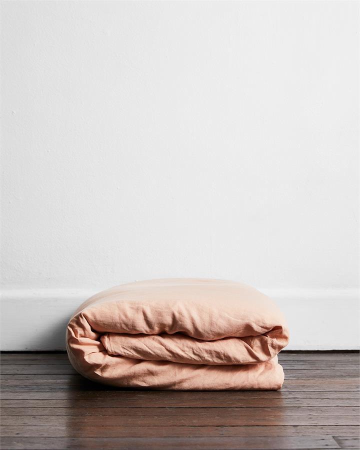 Terracotta 100% Flax Linen Duvet Cover - Bed Threads