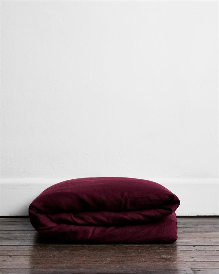 Ruby 100% Flax Linen Duvet Cover - Bed Threads