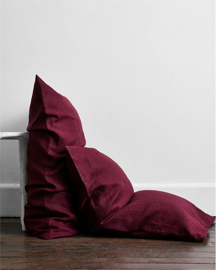 Ruby 100% Flax Linen Pillowcases (Set of Two) - Bed Threads