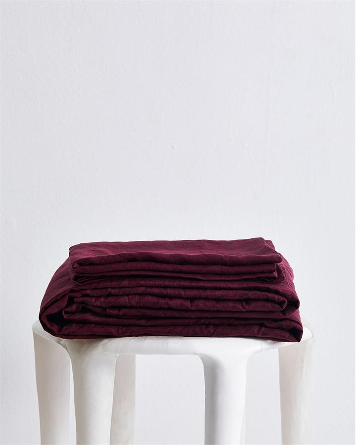 Ruby 100% Flax Linen Sheet Set - Bed Threads