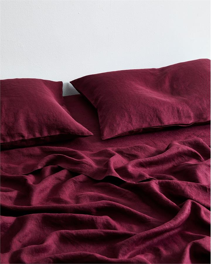 Ruby 100% Flax Linen Fitted Sheet - Bed Threads