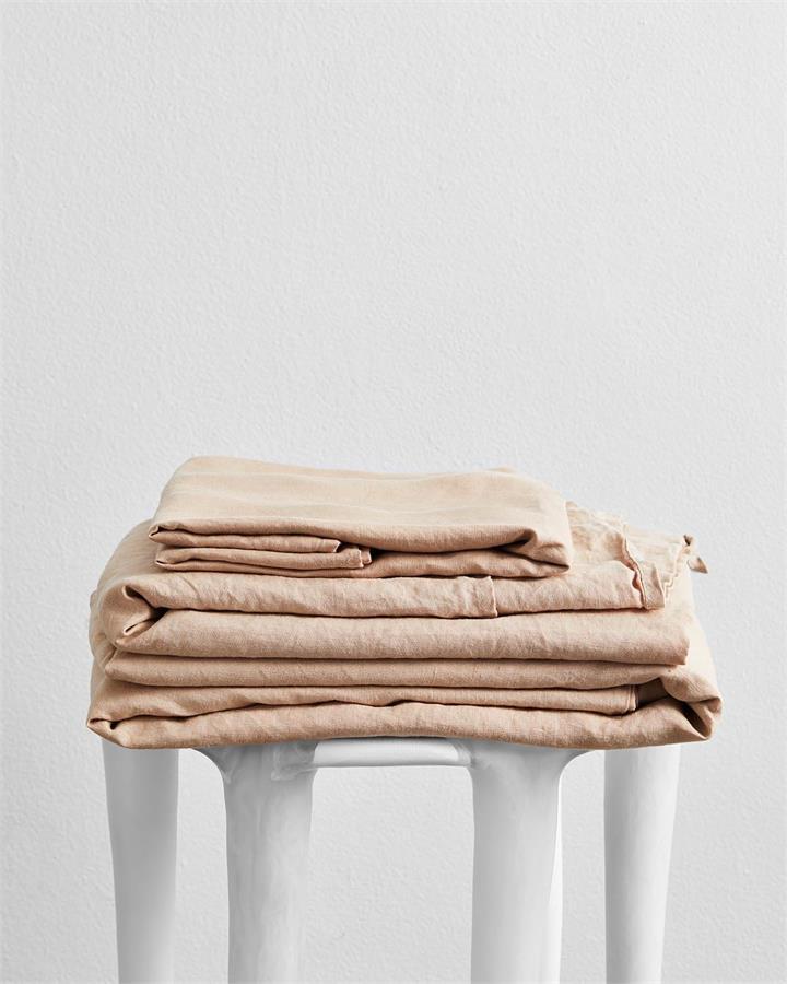 Terracotta 100% Flax Linen Sheet Set - Bed Threads