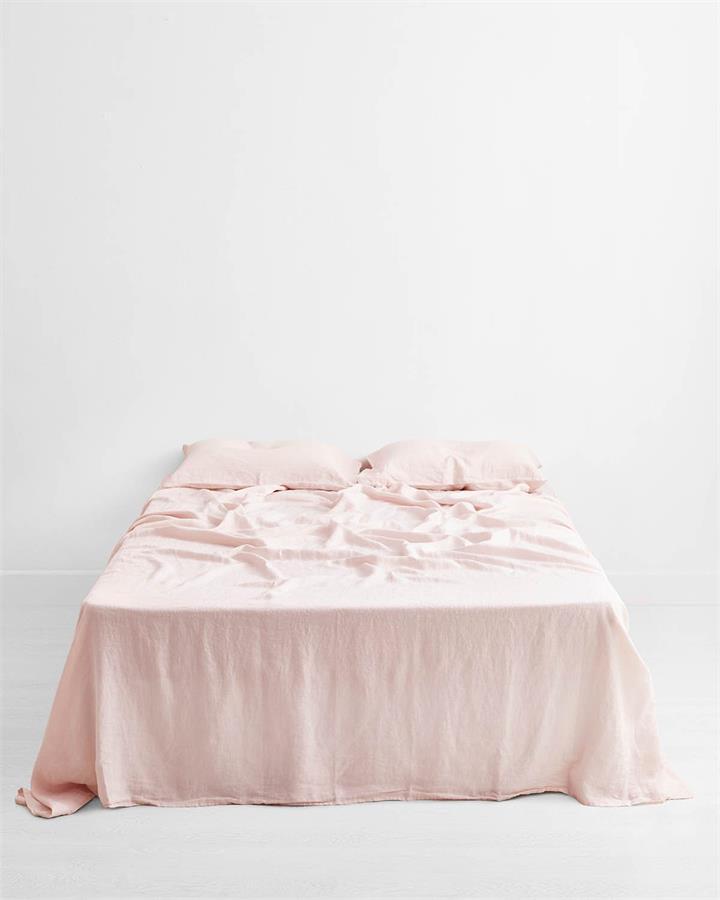 Rosewater 100% Flax Linen Flat Sheet - Bed Threads