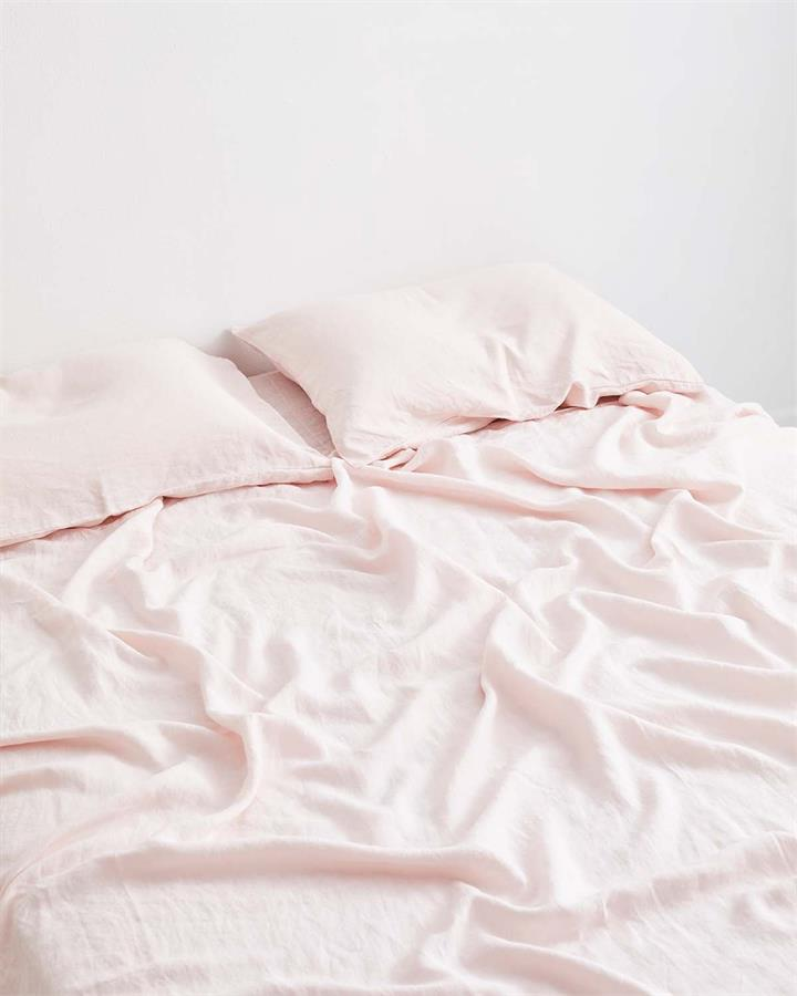 Rosewater 100% Flax Linen Fitted Sheet - Bed Threads