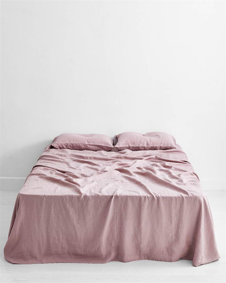 Lavender 100% Flax Linen Flat Sheet - Bed Threads