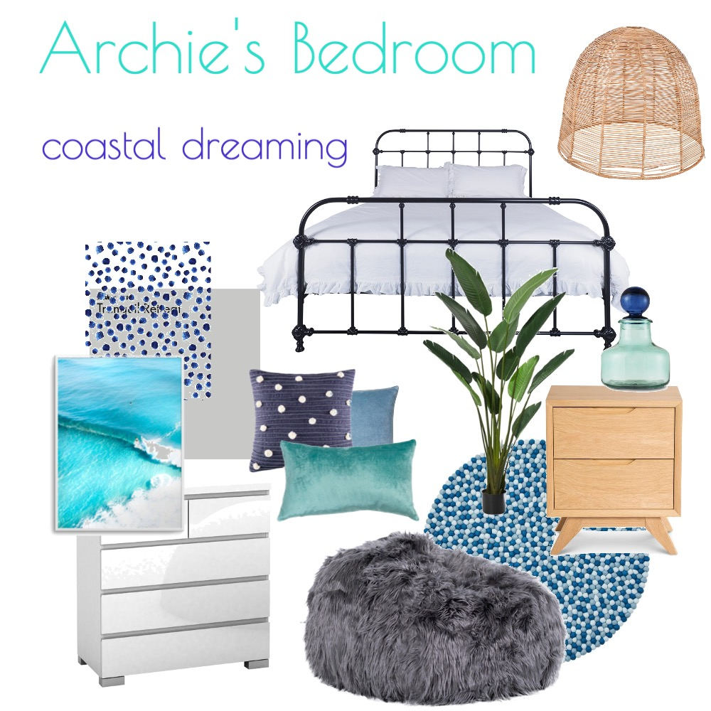 Archie bedroom Interior Design Mood Board by Arch&Oak Creative on Style Sourcebook