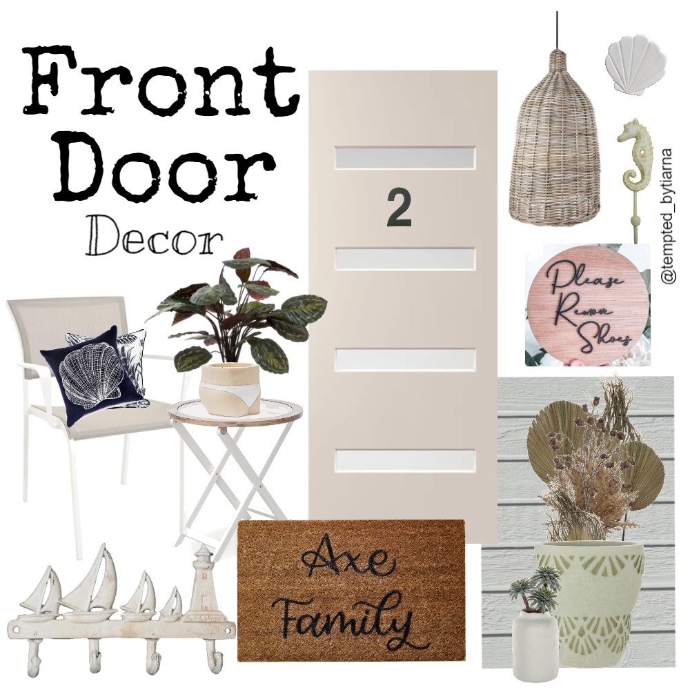 Tempted Front Door (Axe Family) Interior Design Mood Board by Tempted By Tiarna on Style Sourcebook