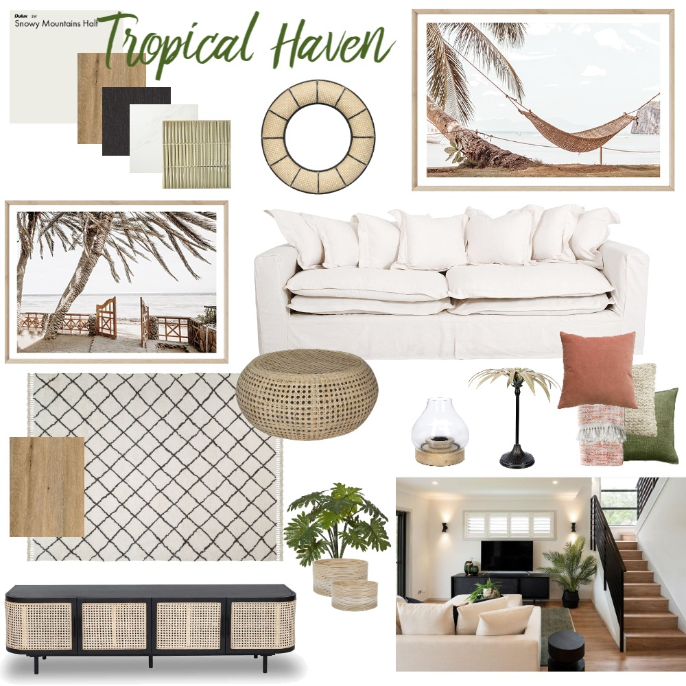 Tropical Haven Interior Design Mood Board by Melvie Interiors on Style Sourcebook