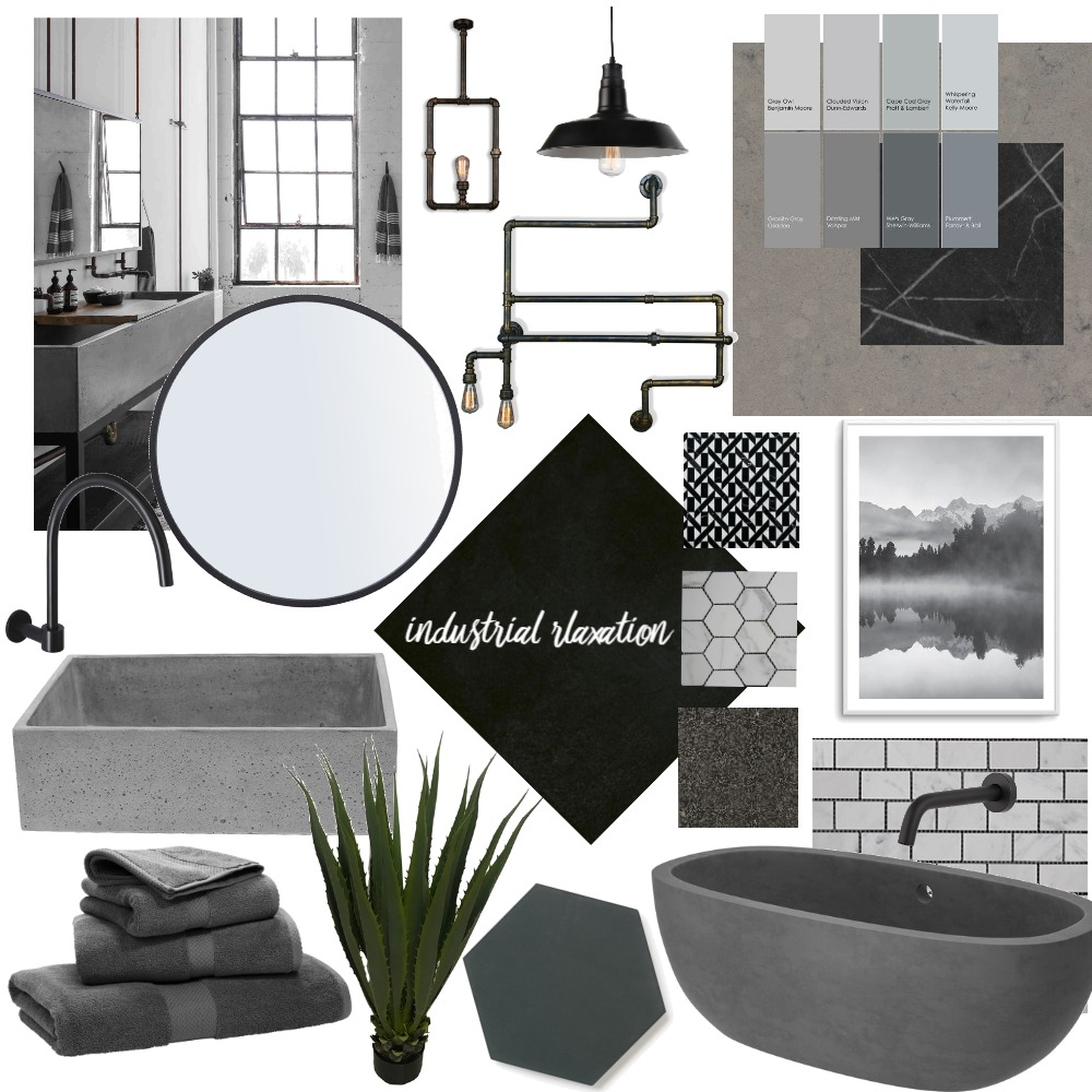 Industrial Relaxation Interior Design Mood Board by Idesigns on Style Sourcebook