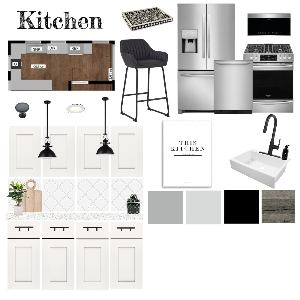 Kitchen Sample Board Interior Design Mood Board by ericahayes on Style Sourcebook