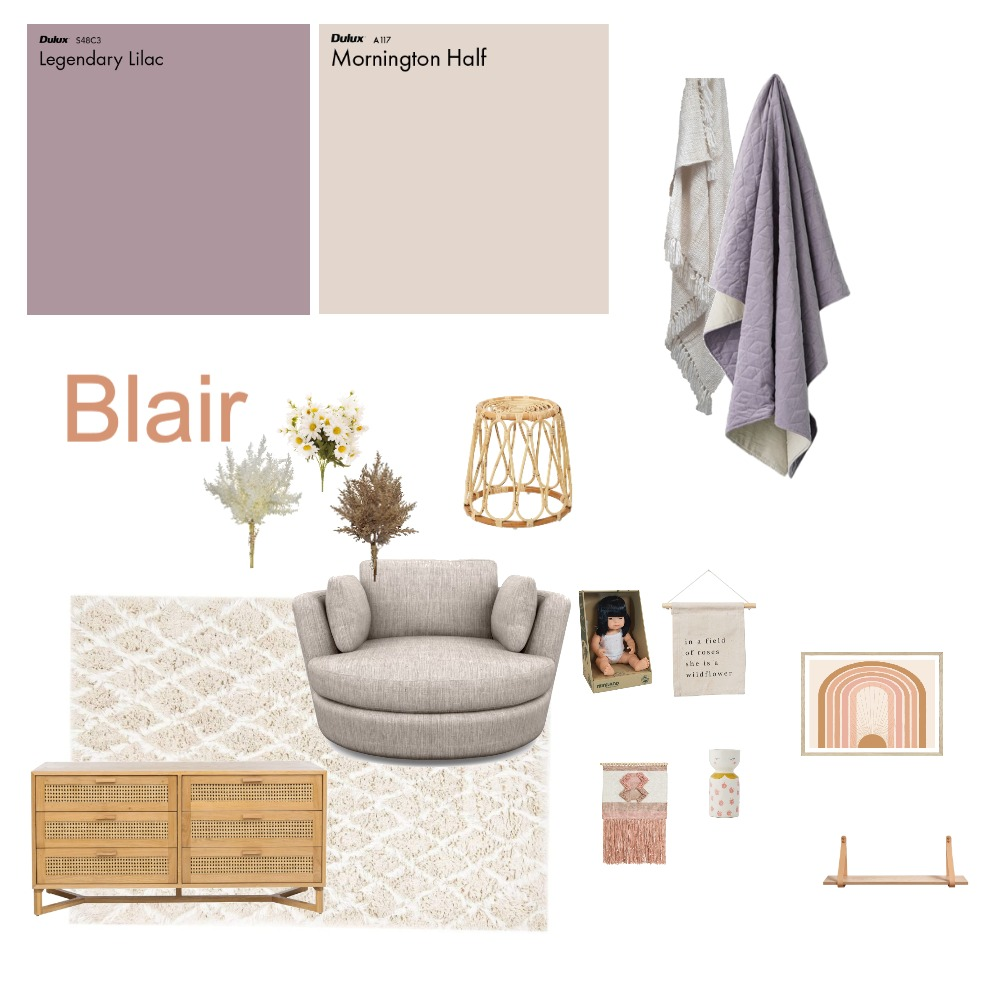 Blair's Room Interior Design Mood Board by Avonside Home on Style Sourcebook