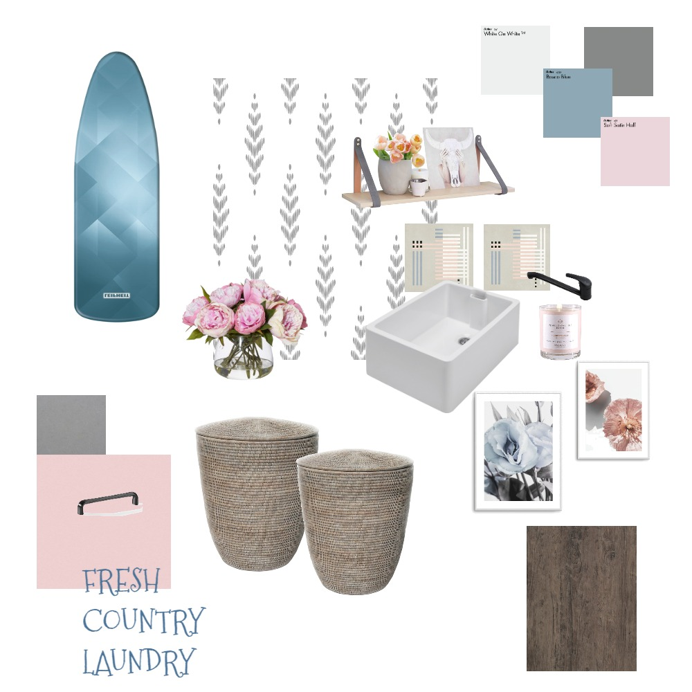 Fresh Country Laundry Interior Design Mood Board by Jeannette vanLagen on Style Sourcebook