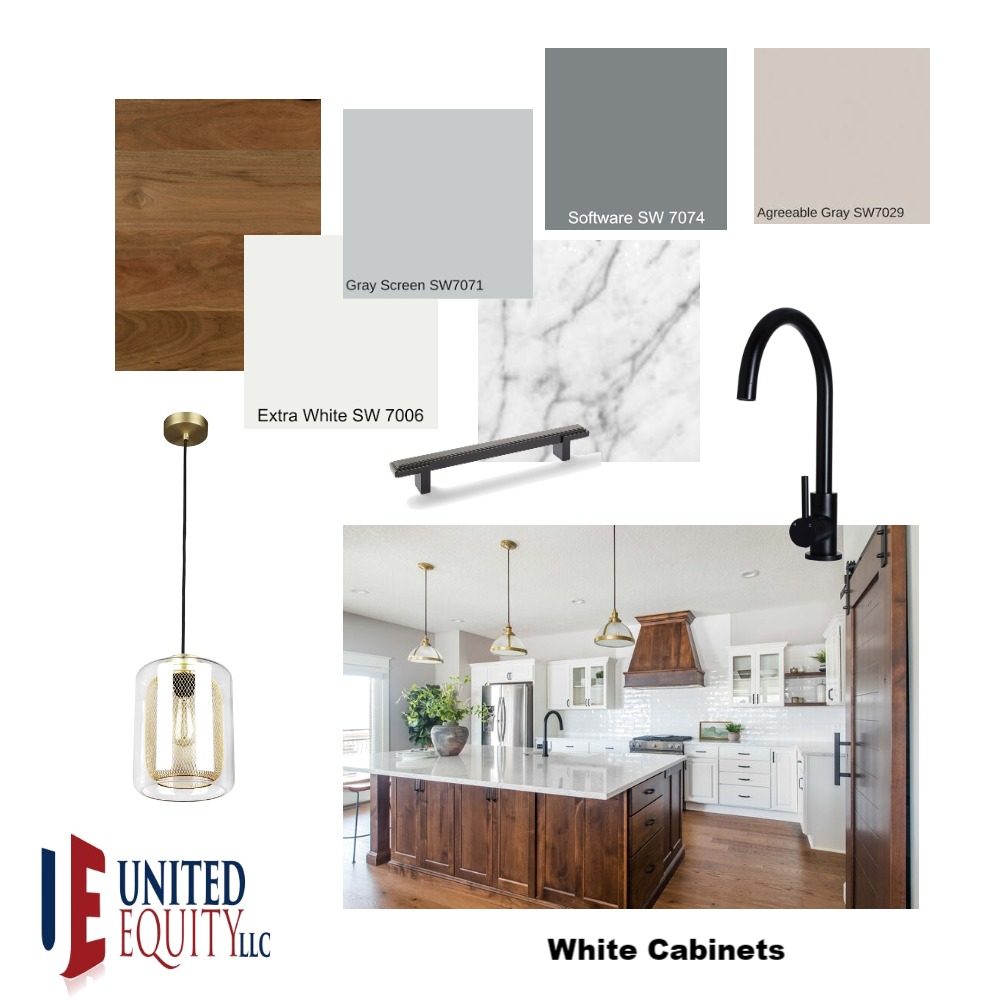 White Cabinets Interior Design Mood Board by United on Style Sourcebook