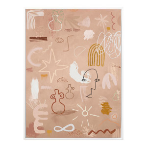 CAVE DRAWINGS BOX FRAMED CANVAS in 97 x 127cm by OzDesignFurniture, a Prints for sale on Style Sourcebook