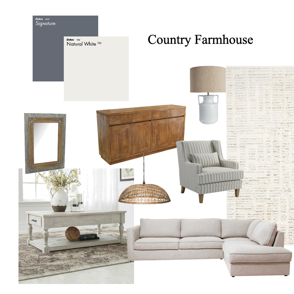 Country farmhouse Interior Design Mood Board by clairemorris on Style Sourcebook