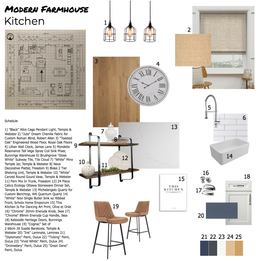 Kitchen Sample Board Interior Design Mood Board by georgiacampbell on Style Sourcebook