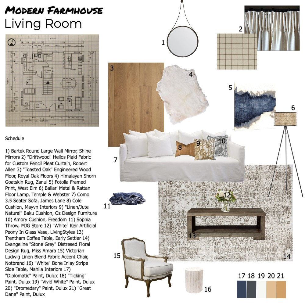 Living Room Sample Board Interior Design Mood Board by georgiacampbell on Style Sourcebook