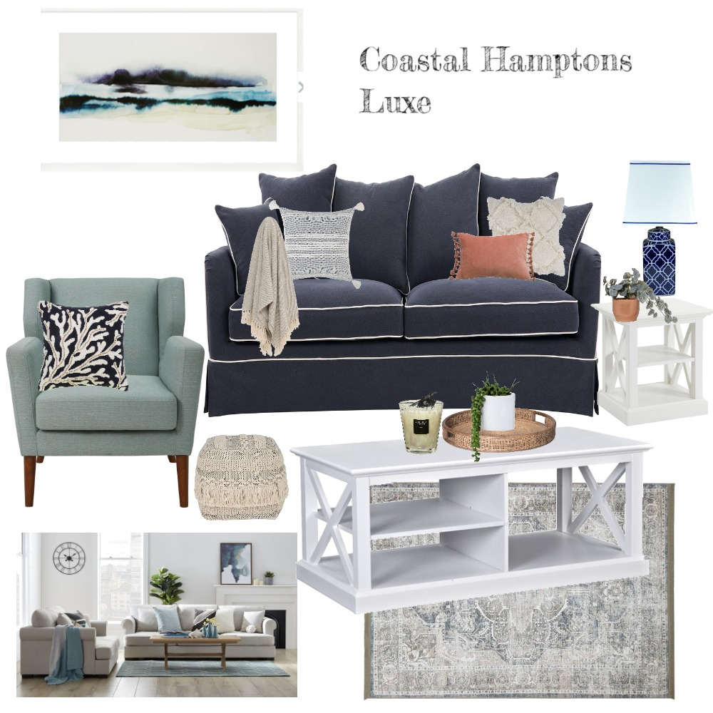 Coastal Hamptons Interior Design Mood Board by Jo Sievwright on Style Sourcebook