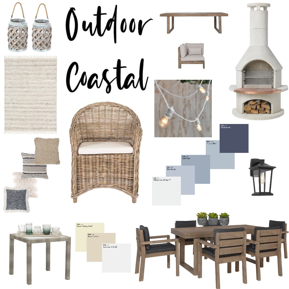 Coastal Outdoor Living Interior Design Mood Board by traceymac on Style Sourcebook