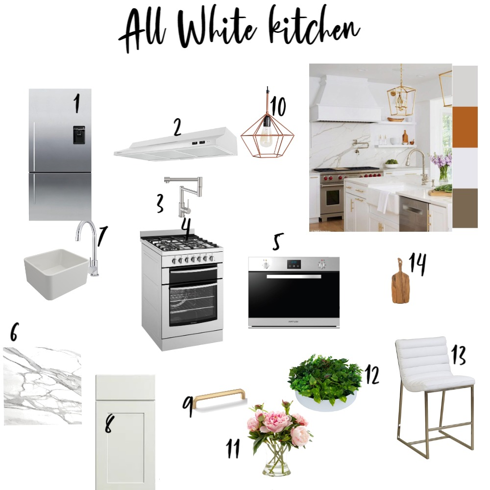 all white kitchen Interior Design Mood Board by Swapna mahesh on Style Sourcebook