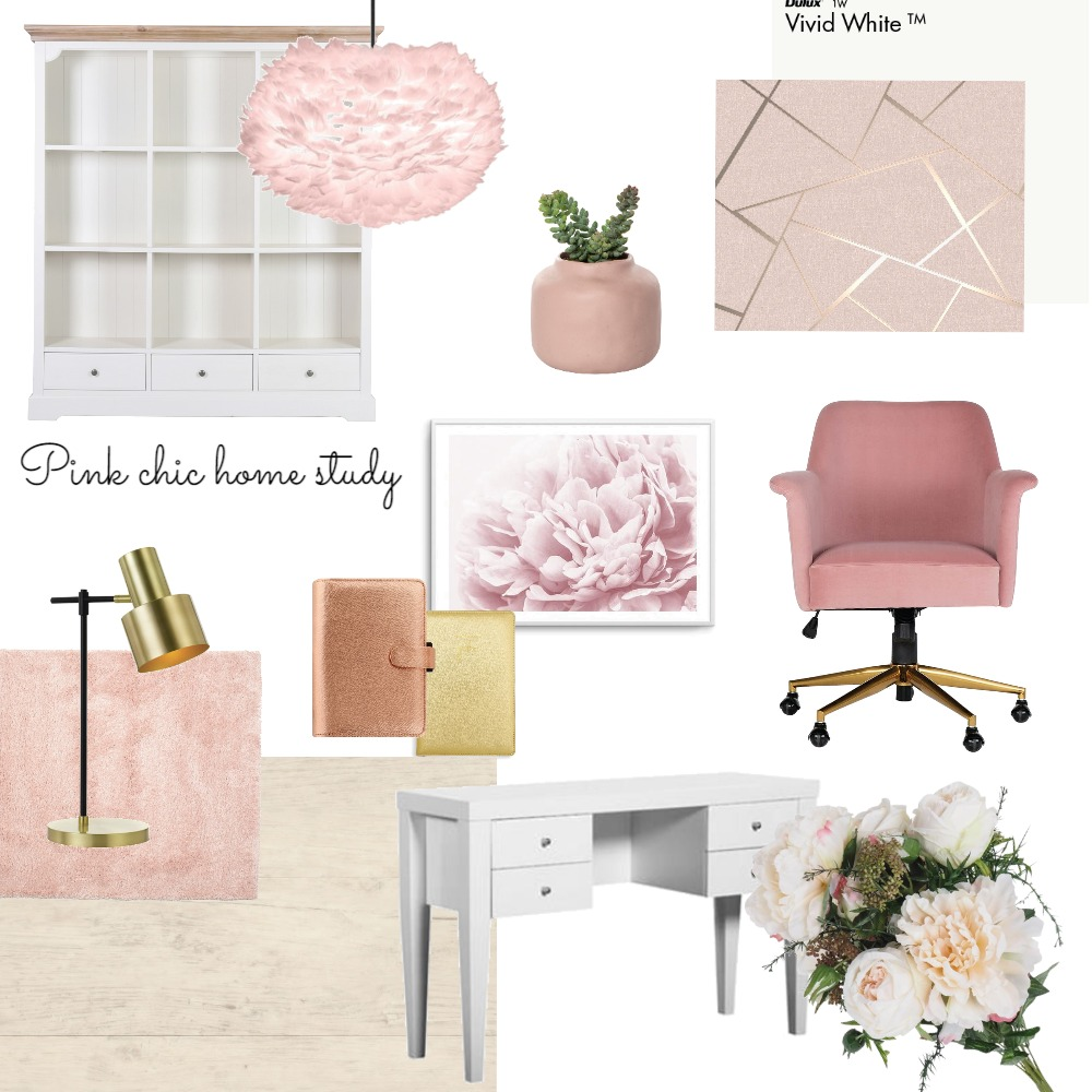 Chic Home Study Interior Design Mood Board by Maria Gomez on Style Sourcebook