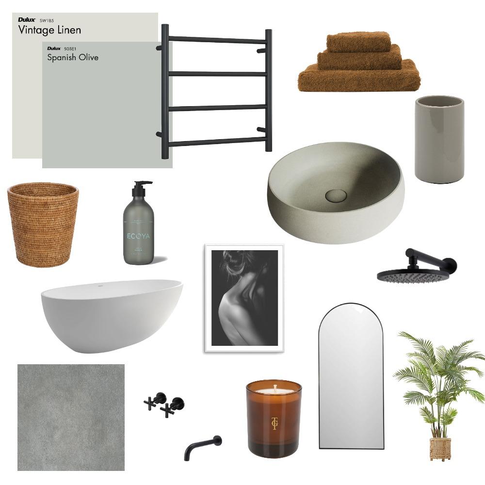 sage bathroom Interior Design Mood Board by chloescarpin on Style Sourcebook