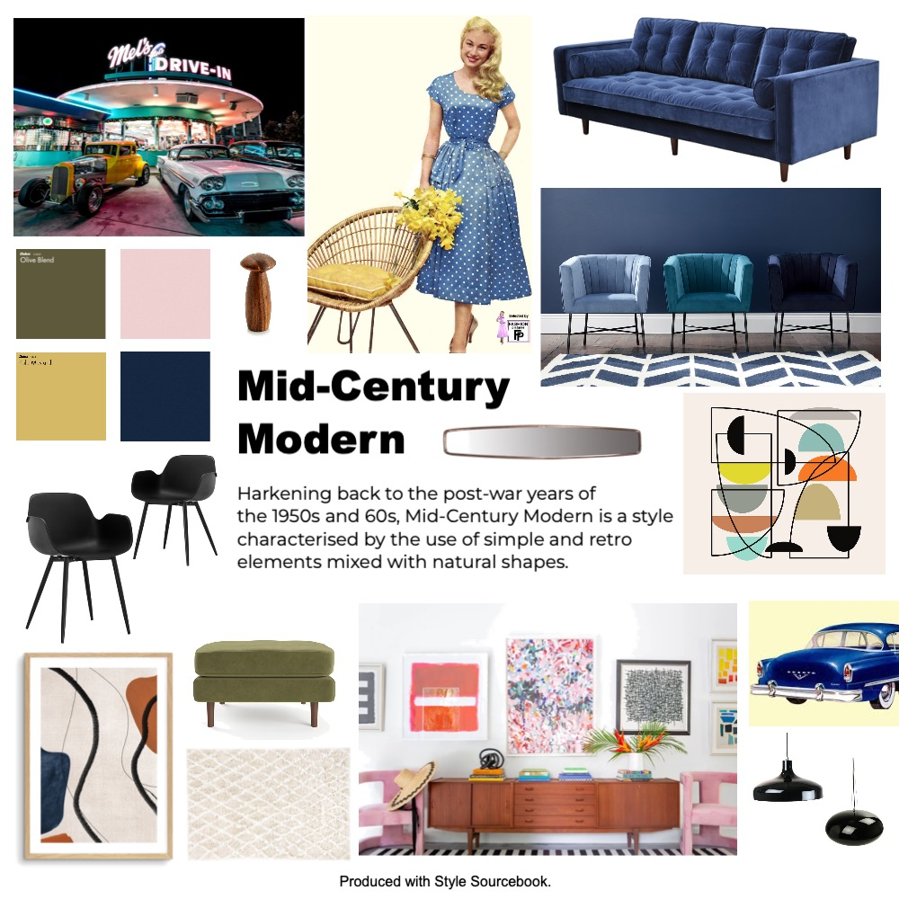 Mid-Century Modern Interior Design Mood Board by Rob Di Giovanni on Style Sourcebook