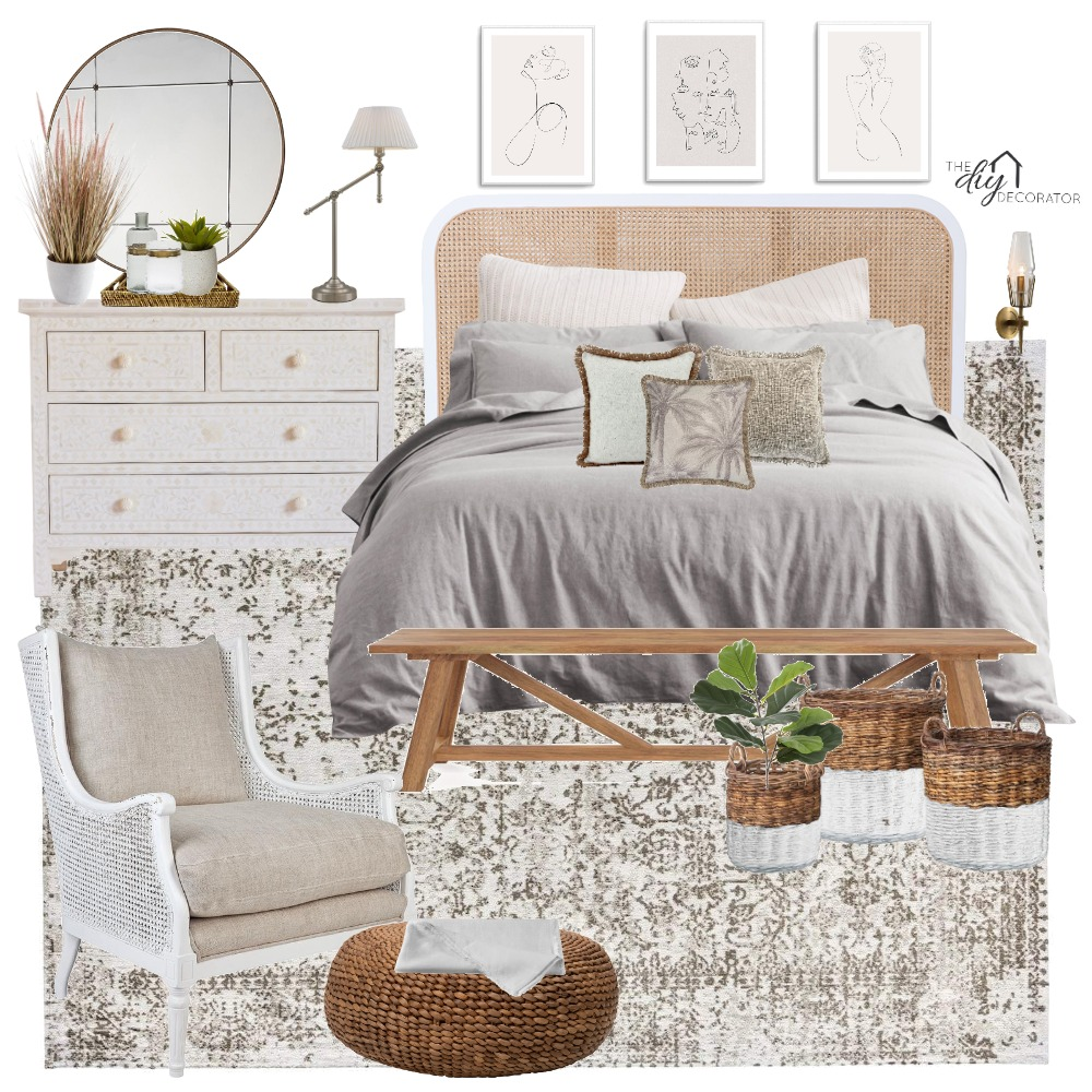 Bedroom Interior Design Mood Board by Thediydecorator on Style Sourcebook